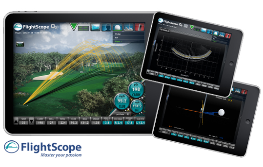 flightscope ipad screen shots